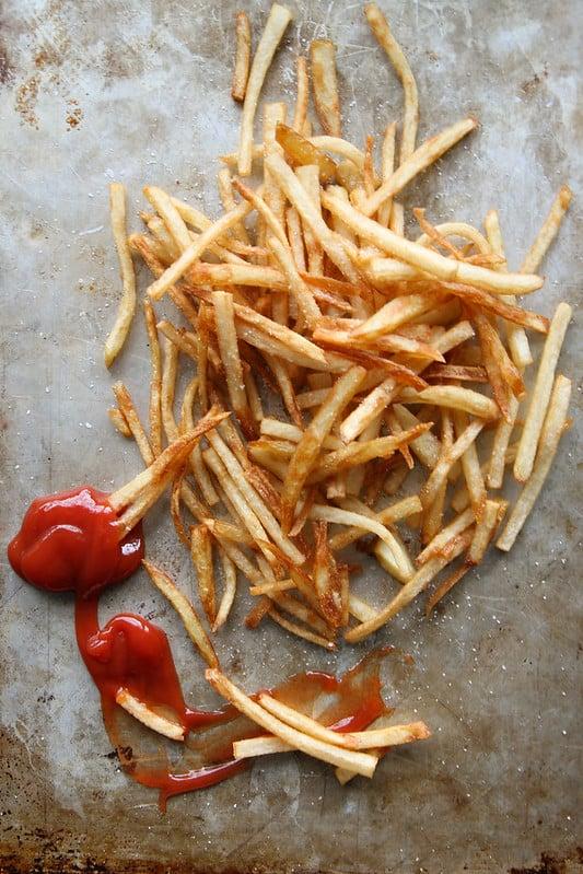Skinny fries to go
