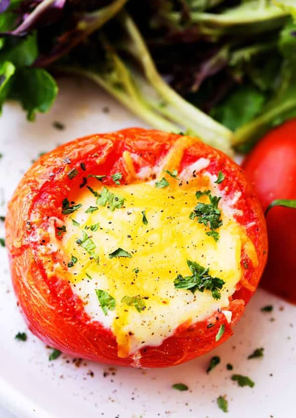 Unique side dish with tomato and egg
