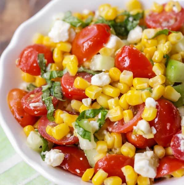 Corn salad side dish