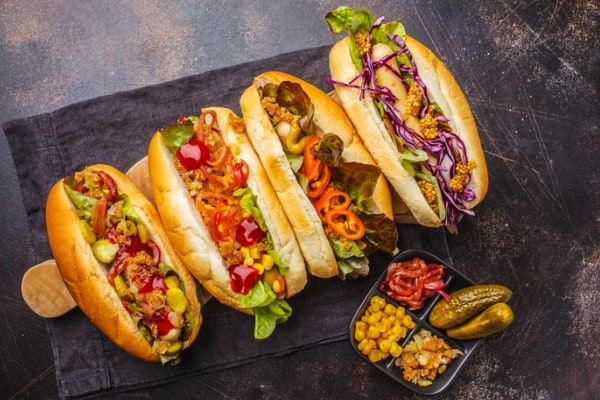 Hot dog topping variations