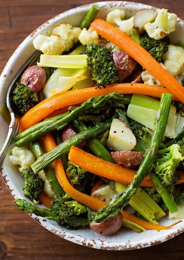 Roasted veggies as a side dish