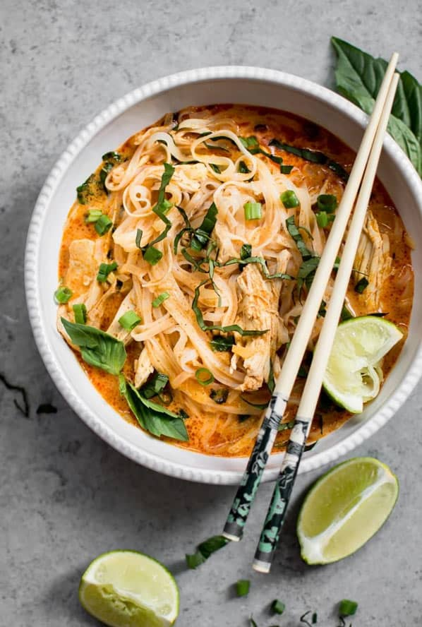 Thai chicken curry side of soup