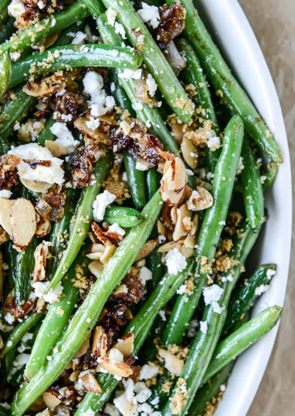 Toasted green beans
