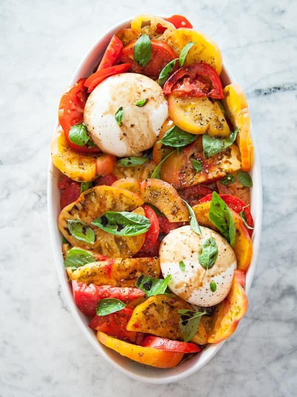 Tomato caprese side salad