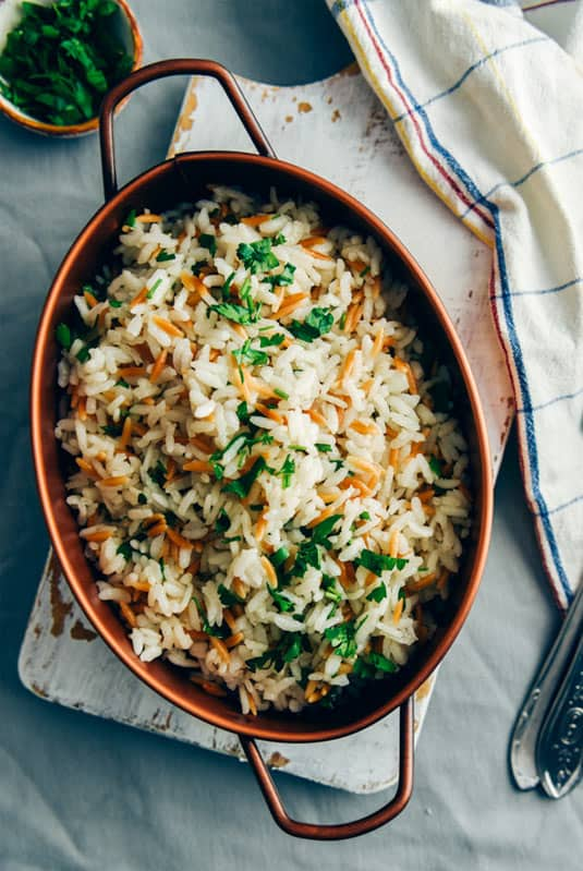 Turkey rice pilaf goes with beef stew