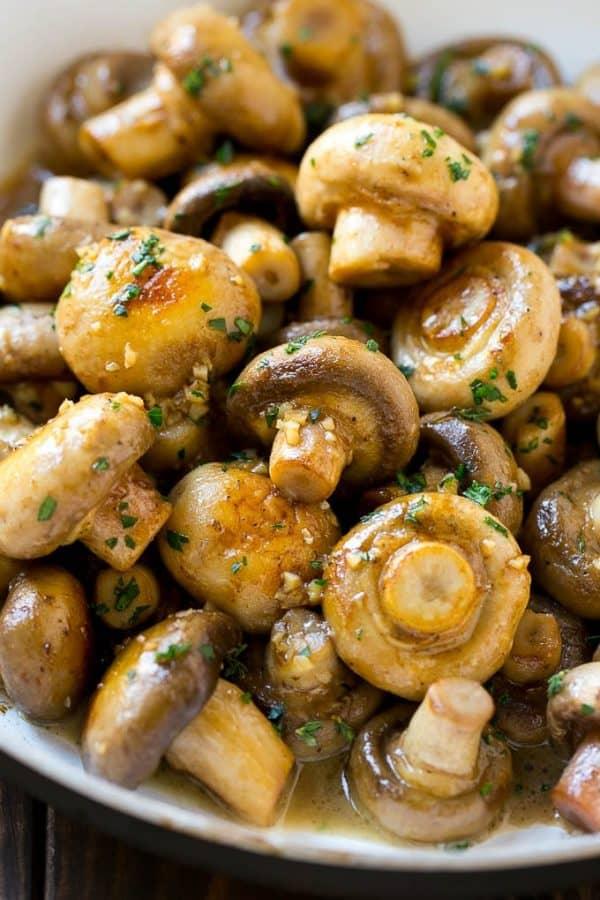 Garlic Buttered Mushrooms