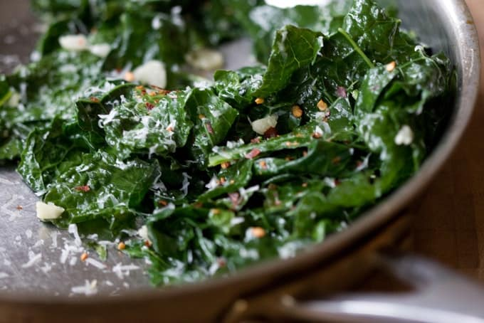 Greens with garlic