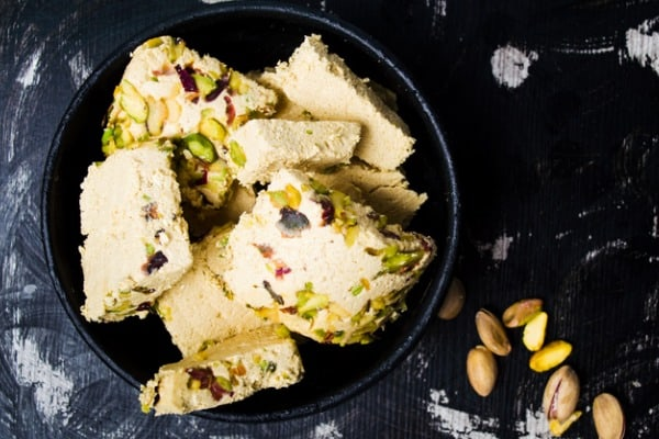 almond pistachio fat bombs