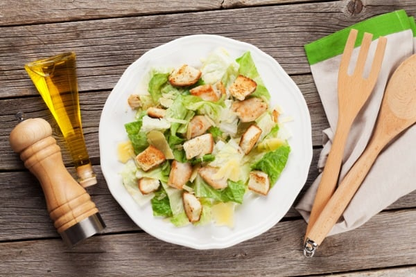 caesar salad with mct oil