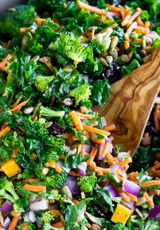 Broccoli kale salad mix is what goes with ratatouille