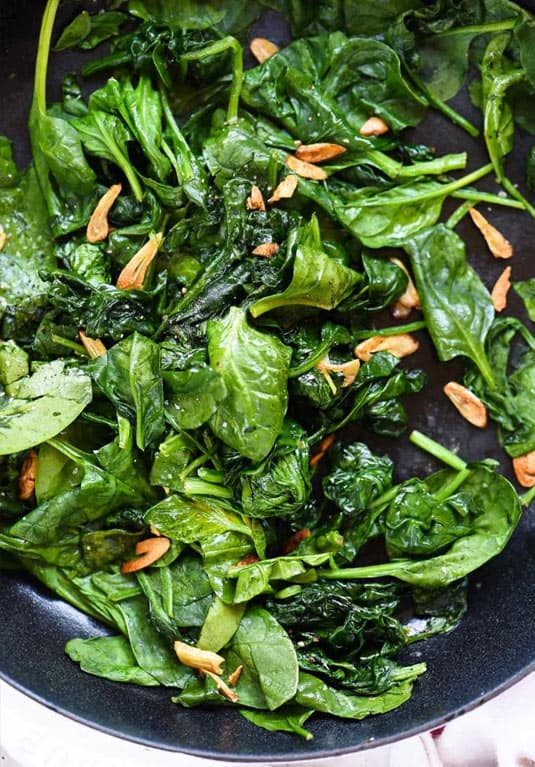 Sauteed spinach and garlic recipe