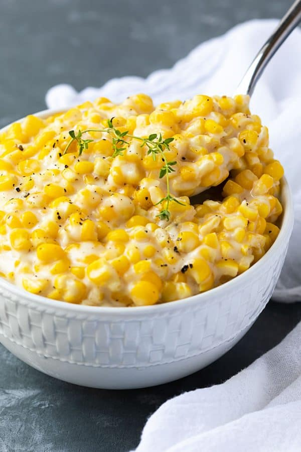 Creamed Corn Recipe - One of our favorite chicken and dumplings sides