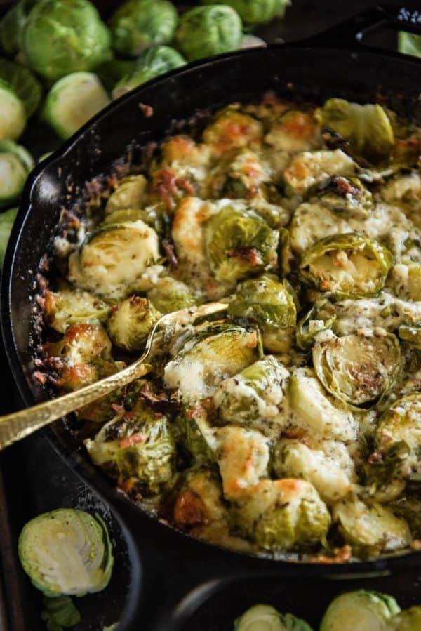 Baked brussels sprouts side dish idea