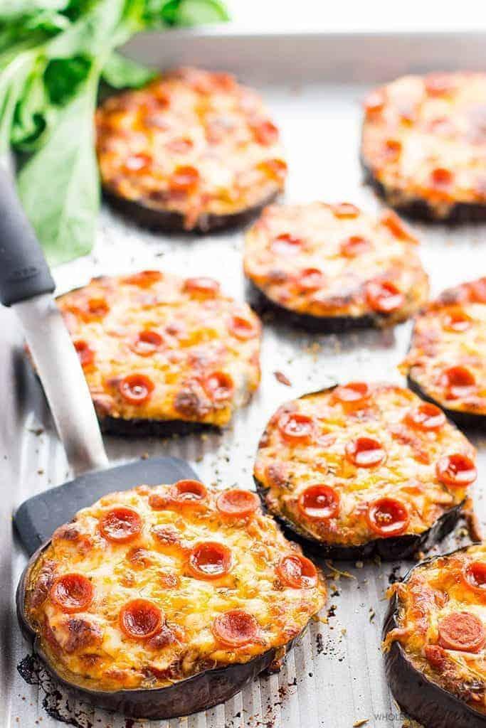 Mini side eggplant pizza