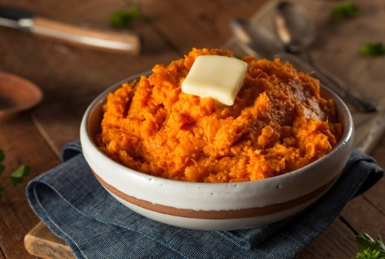 Side of mashed sweet potatoes