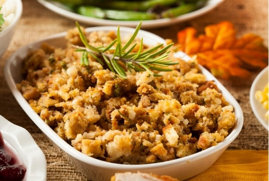 Stuffing with poultry