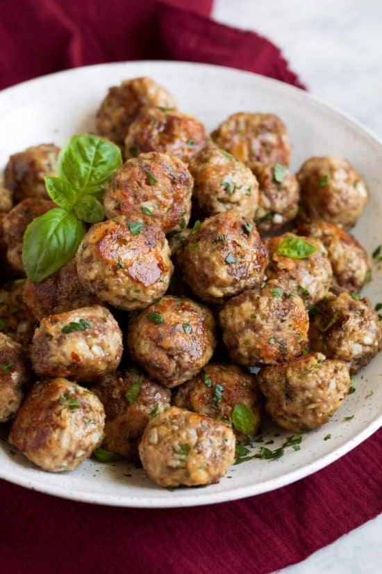 Italian meatballs side