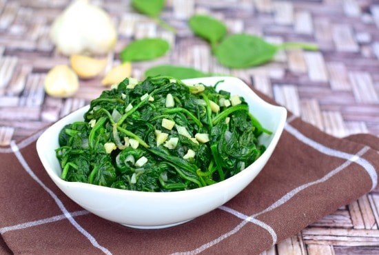 sauted spinach side