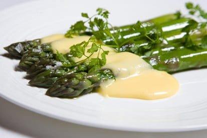 Asparagus with Gruyere Sauce