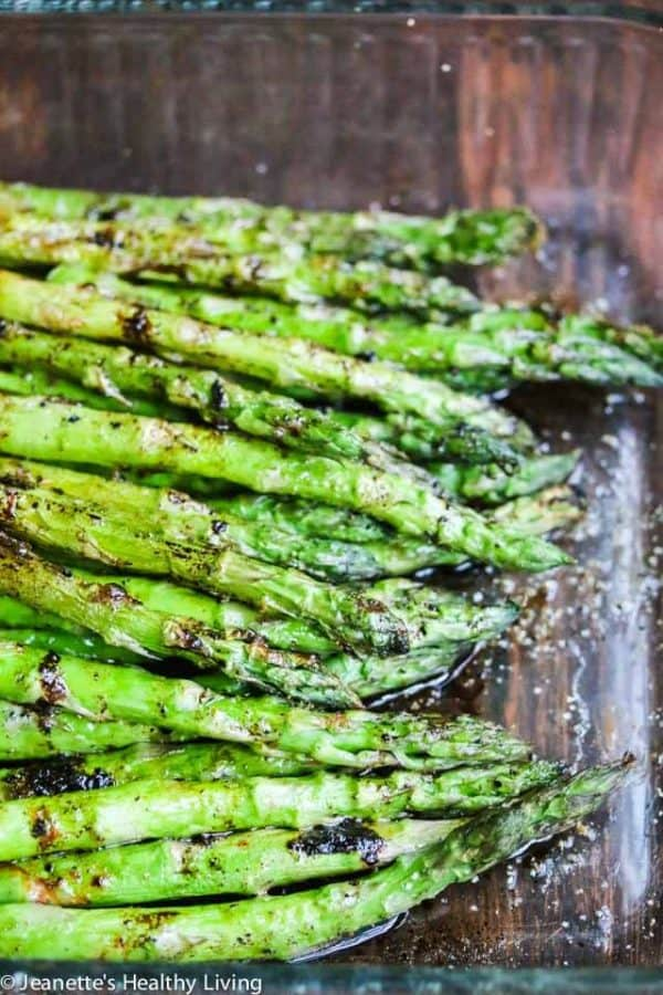 Asparagus with Balsamic Soy Butter Sauce