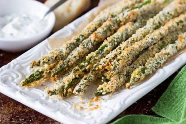 Asparagus Fries with Parmesan Dip