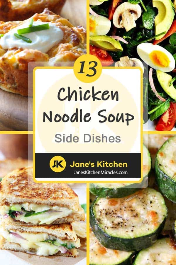 Chicken noodle soup sides pin