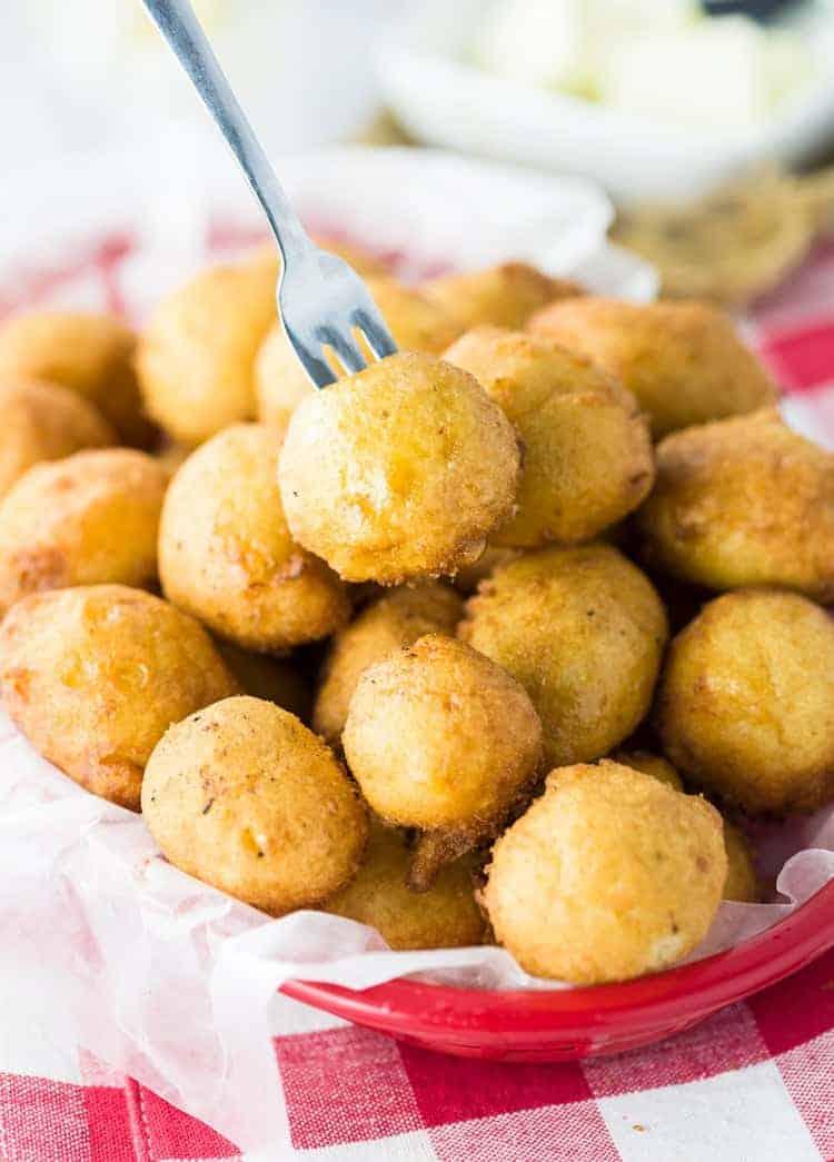 Sweet corn fritters recipe