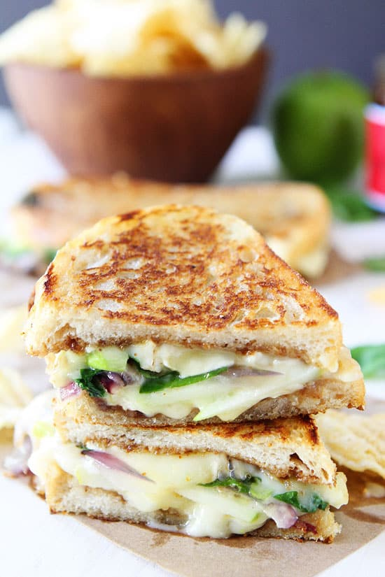 Soup side of grilled cheese