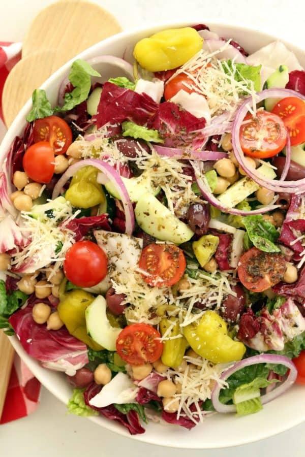 Chopped side salad