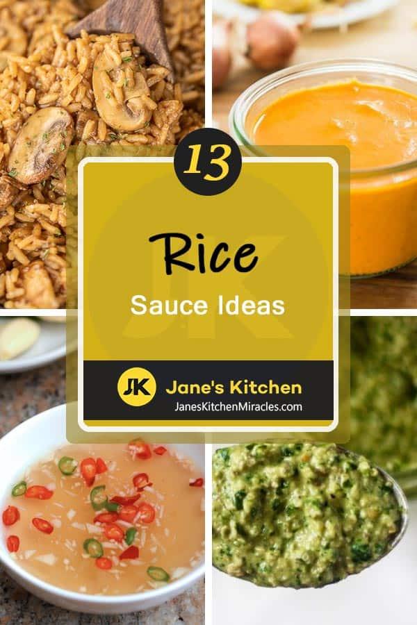 Rice sauce ideas pin
