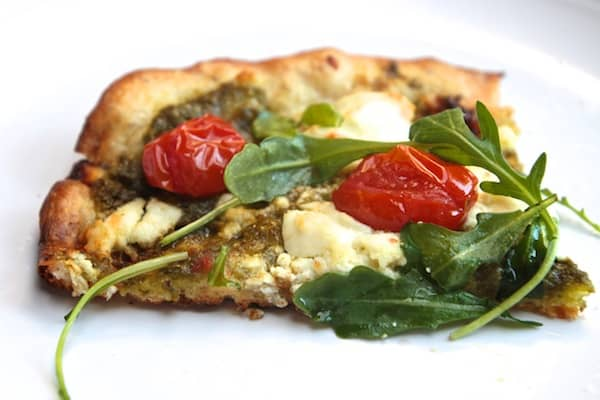 Goat cheese arugula pizza recipe