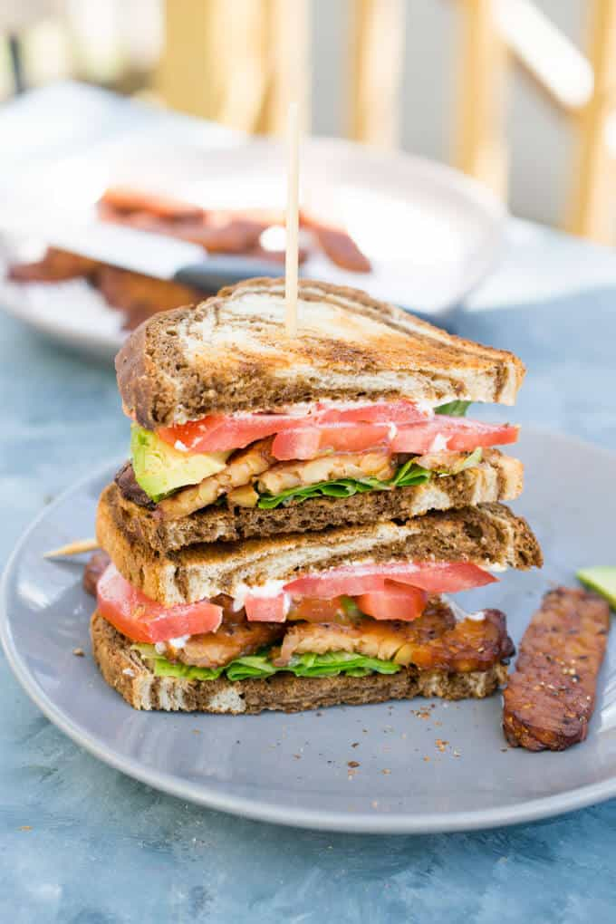 BLT with chicken noodle soup