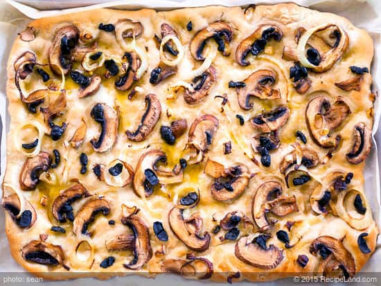 mushrooms can be the best focaccia toppers