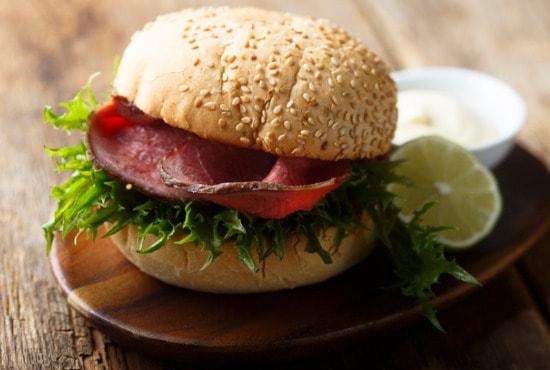 Bun for roast beef sandwich