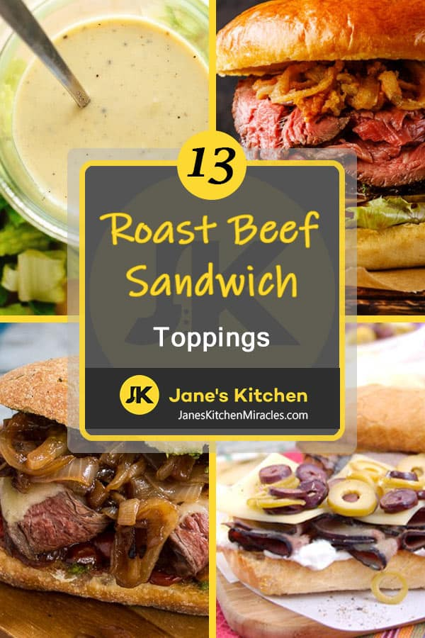 roast beef sandwich toppings pin