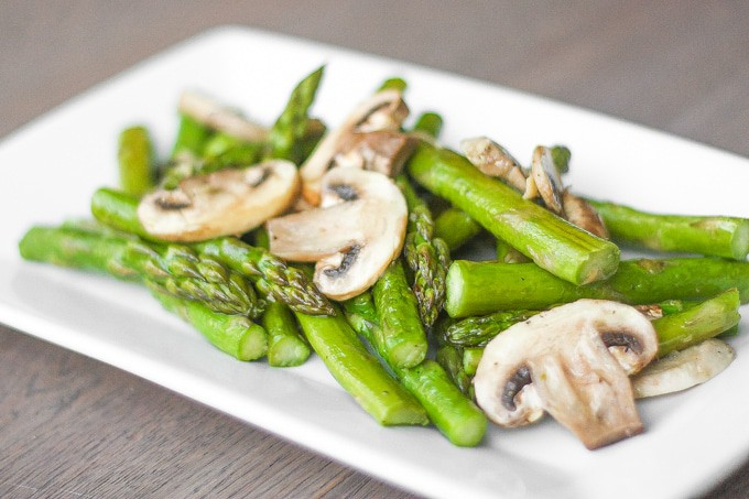 Roasted asparagus is what goes with shepherds pie