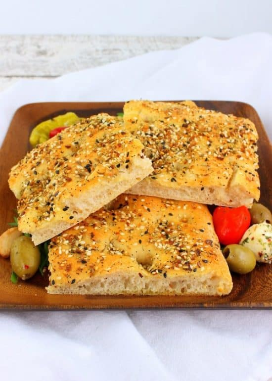 seeded focaccia