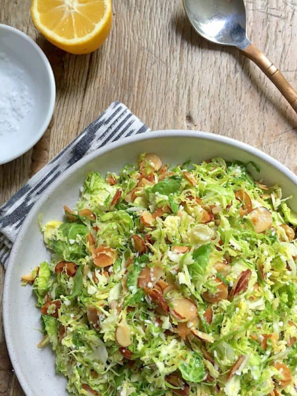 Shaved brussels sprouts side dish