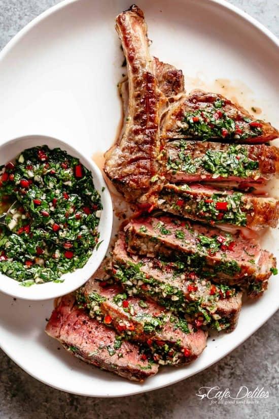 steaks with chimichurri