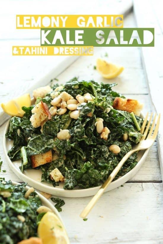 bean and kale salad