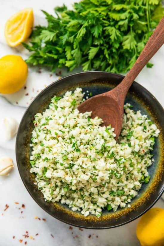 simple lemon parsley