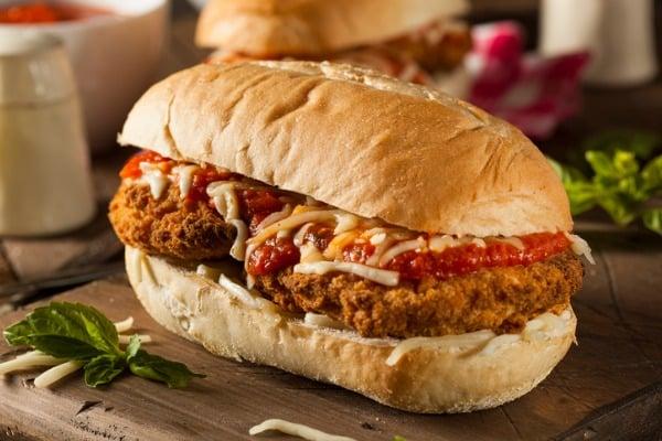 chicken parmesan andwich