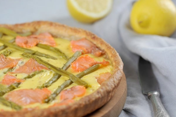 quiche with salmon and asparagus