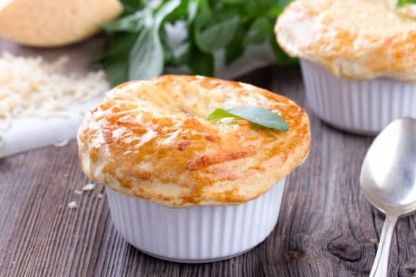 reheatchicken pot pie with added ingredients