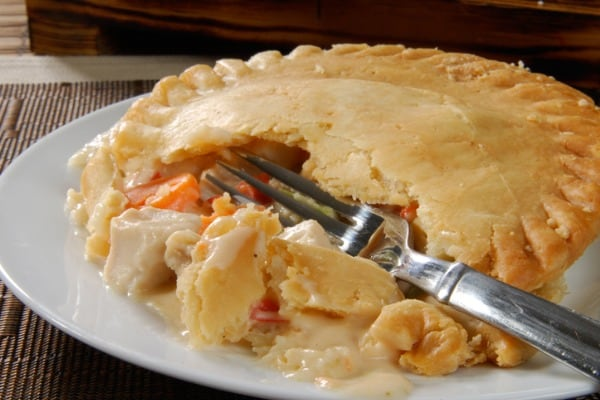 reheating chicken pot pie