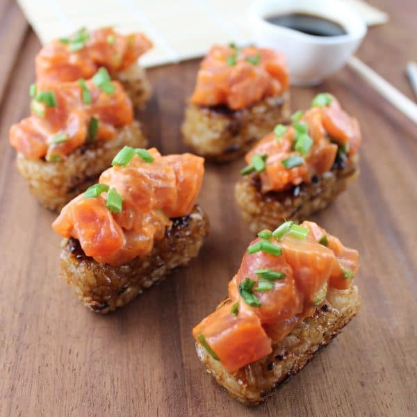 tuna crispy rice cakes