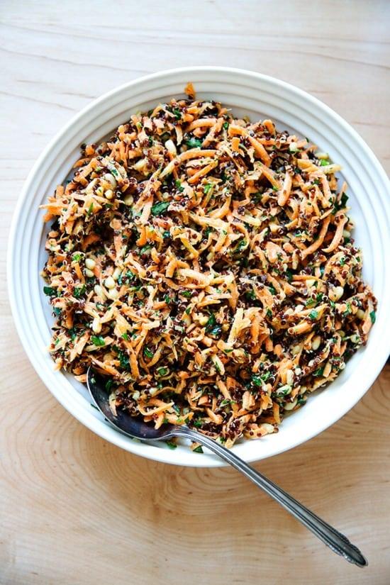 carrot-quinoa salad