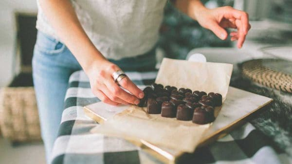 chocolate with almond