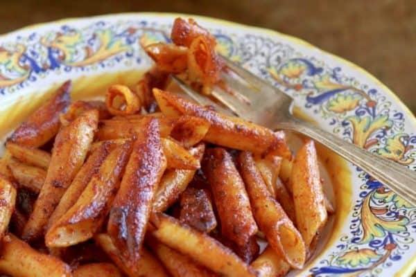 crispy leftover pasta