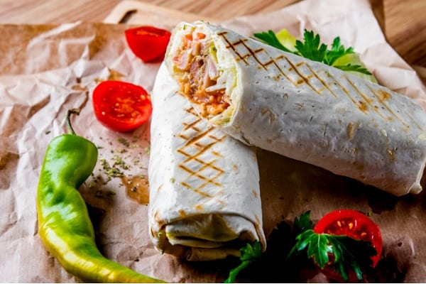 Chicken Shawarma with vegetables